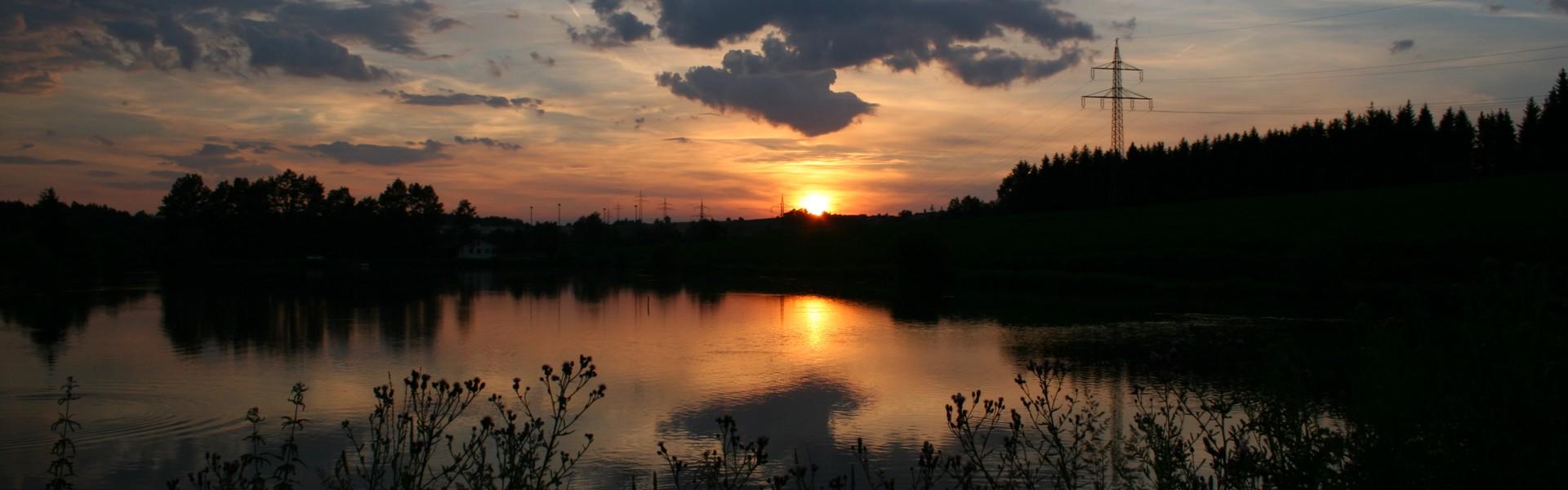 Winterweiher - Sonnenuntergang Golf- und Landhotel Anetseder